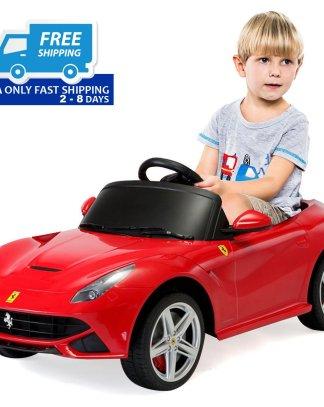12 V Ferrari F12 Red Kids Ride on Car w/ RC + MP3