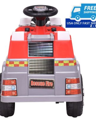 6 V Kids Ride On Rescue Fire Truck