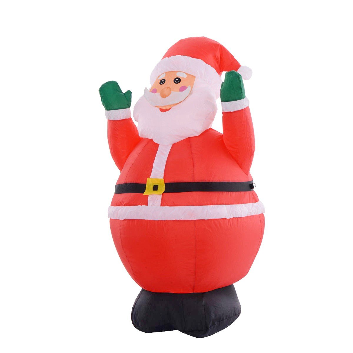 4 Ft Inflatable Christmas Xmas Santa Claus With Two Hands Up Decoration
