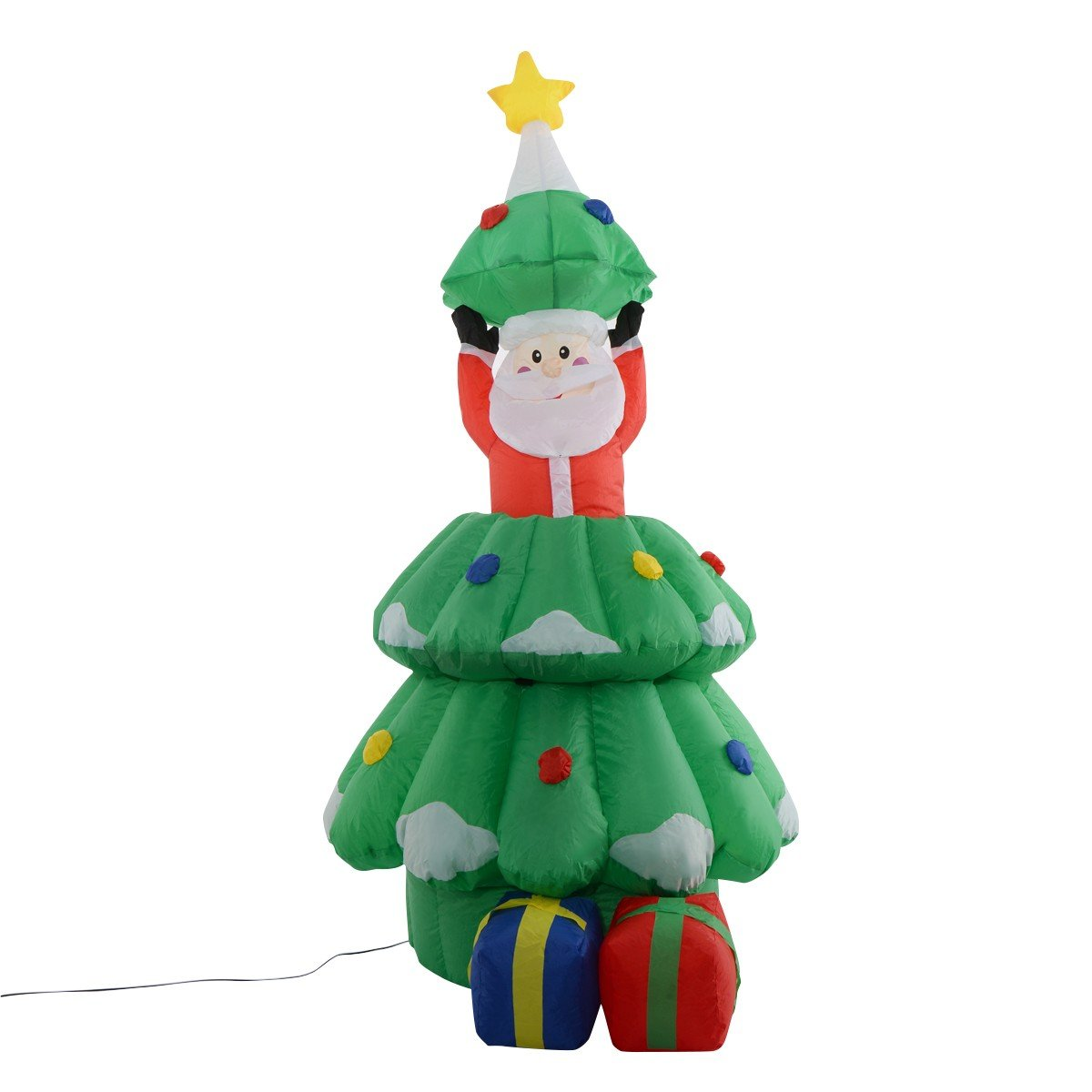 5 ft Airblown Inflatable Santa Claus In Christmas Tree Decor – By ...