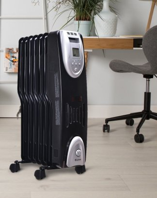 1500 W Electric Oil Filled Safe Digital Radiator Heater