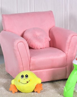 Living Room Armrest Chair Kids Sofa with Pillow – By Choice Products