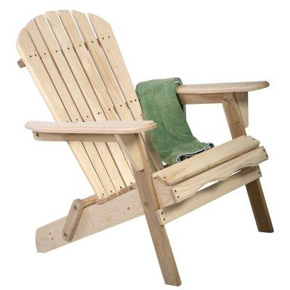 Outdoor Foldable Fir Wood Adirondack Chair