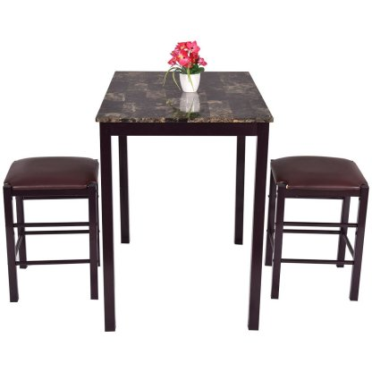 3 pcs Dining Set Table and 2 Chairs