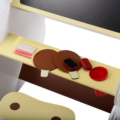 Kids Mutifunctional Drawing Board Easel Creative Desk Stool Art Studio Set Child