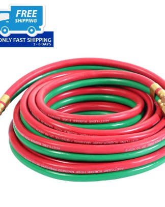 "25ft 1/4"" Twin Welding Torch Hose Oxygen Acetylene Oxy Victor Harris Cutting New"