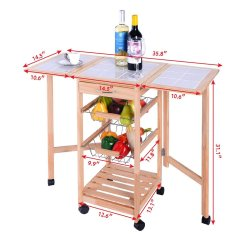 Kitchen Trolley Cart Cabinet Liners 3 Tier Rolling By Choice Products