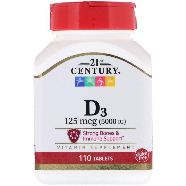 21st Century. 維生素 D3. 5000 IU. 110 片   By iHerb