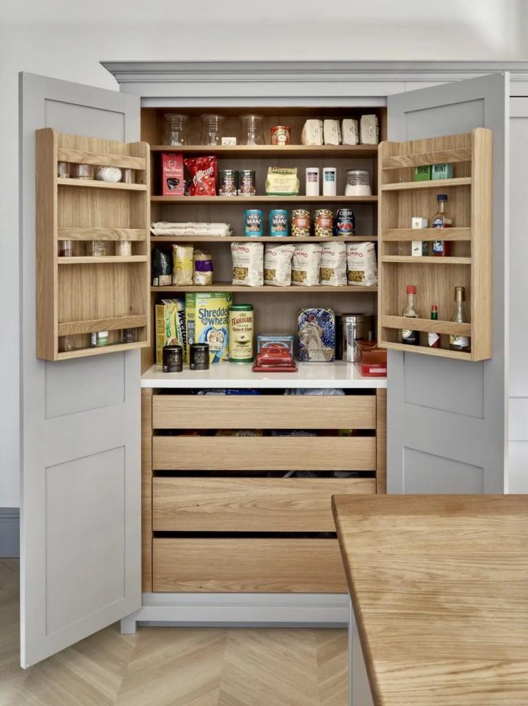 Brayer Design Surbiton Grey Shaker Kitchen Pantry