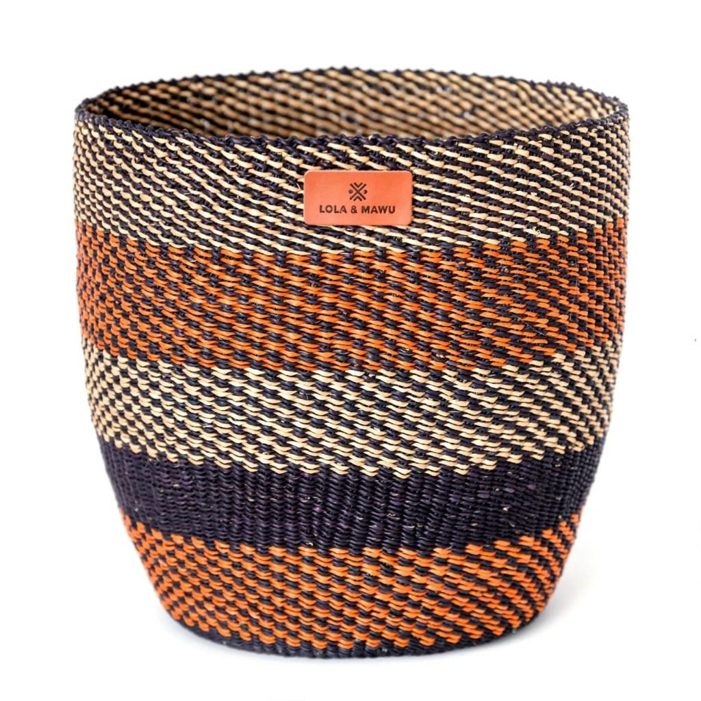 Lola & Mawu Bolga Storage Basket - Earthy