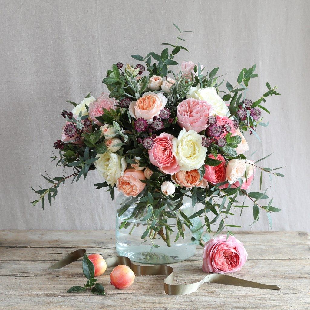 The Real Flower Company Romantic Juliet Valentine's Day Bouquet