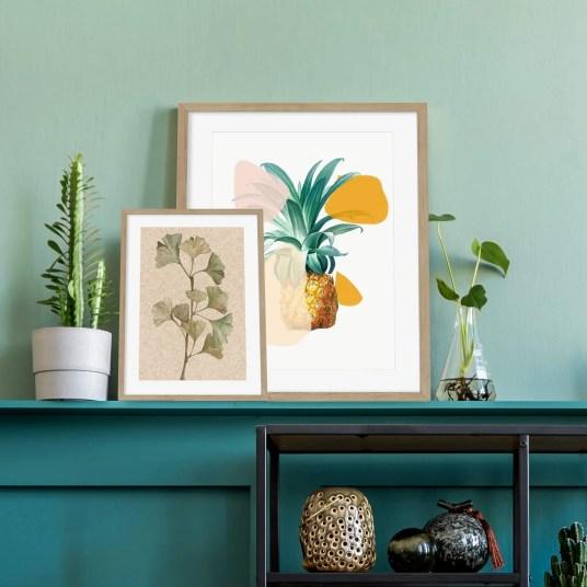Abstract House Botanical Summer Art Prints
