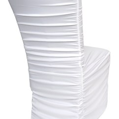 Cheap Black Chair Covers For Sale Dining Room Chairs Singapore By Design Event Decorating Wedding Cover Rentals Ivory White Ruched Pleated Puckered
