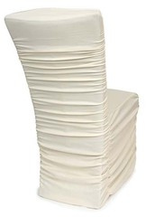 chair covers ivory drive steel transport parts by design event decorating wedding cover rentals black white ruched pleated puckered