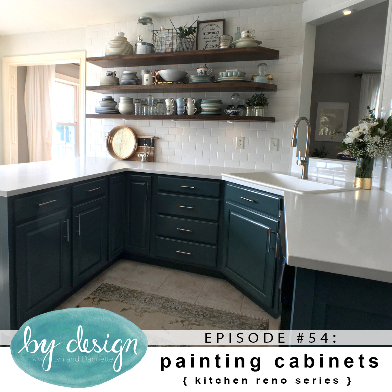 By design episode 54 painting cabinets kitchen reno for Kitchen cabinets reno