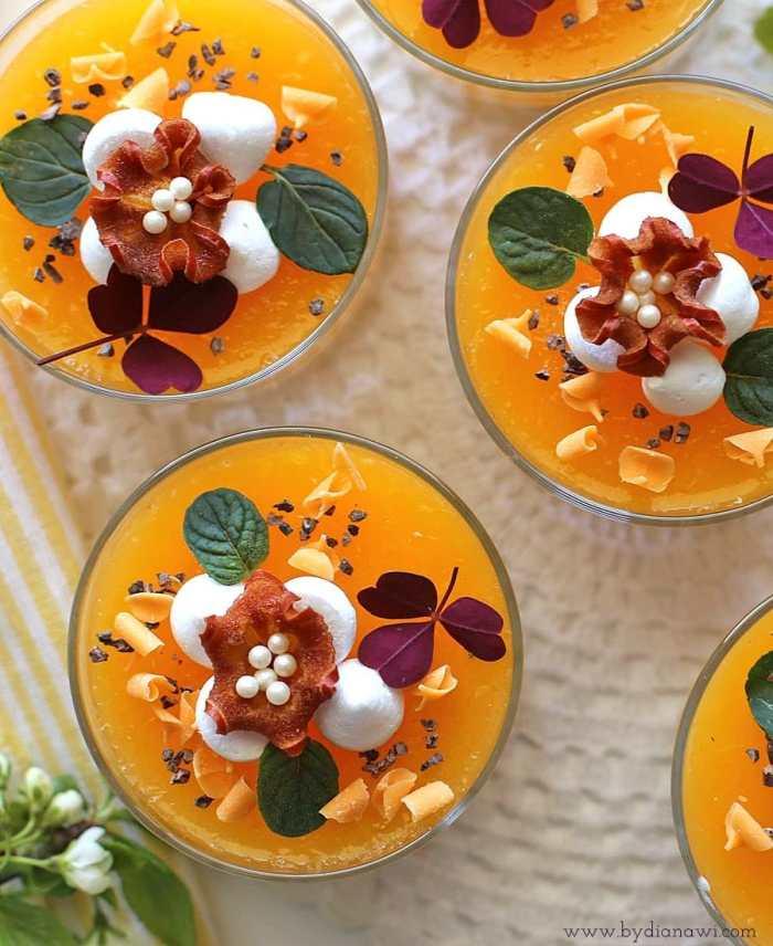 sommerdessert, appelsin, slankedessert