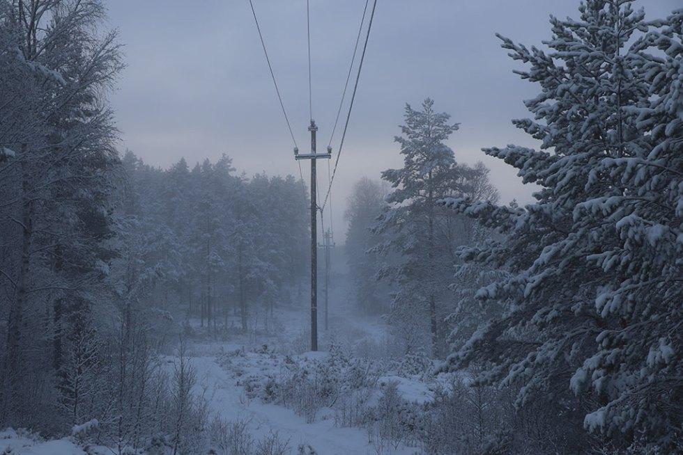 Vinterlandskab i Telemark Norge