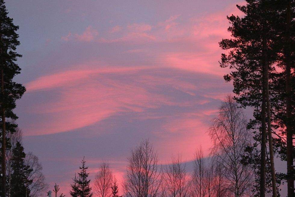 Solnedgang i Telemarken, Norge