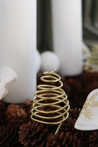 DIY juletræer i tråd - hjemmelavet julepynt til juledekorationen