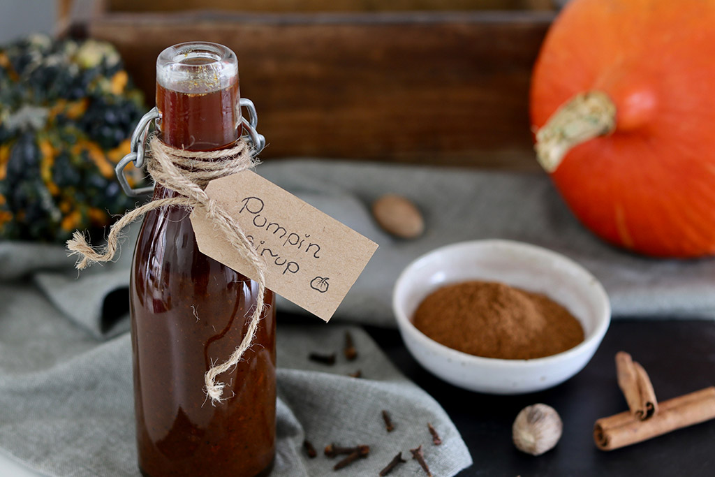 Pumpkin spice sirup opskrift