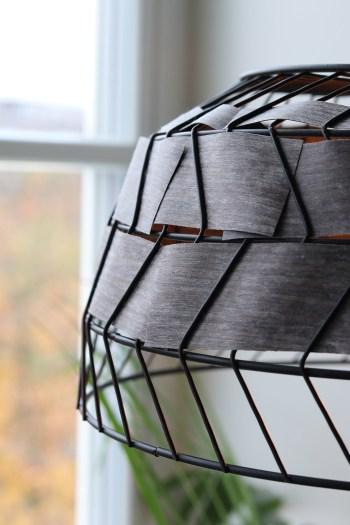 DIY industriel lampe - genbrug en gammel kurv og få en flot pendel