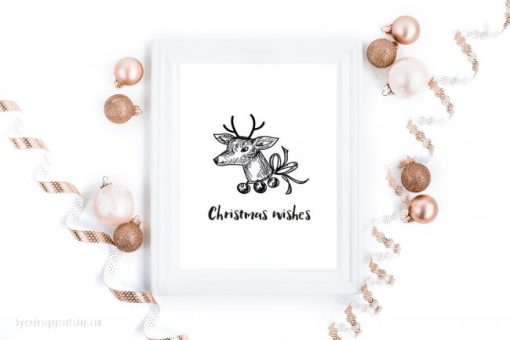 Christmas wishes - digital print