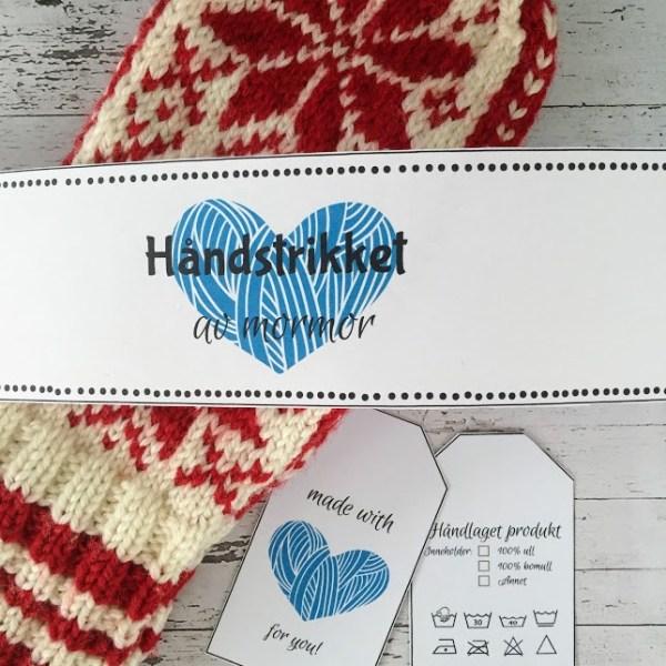 Strikkemappe - ta vare på strikkeminnene - bye9design