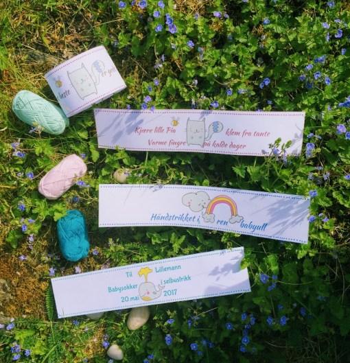 Magebånd til håndlagede barneprodukter