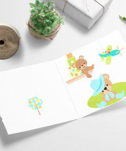 Lekerommet - barnekort med konvolutt 13x13cm