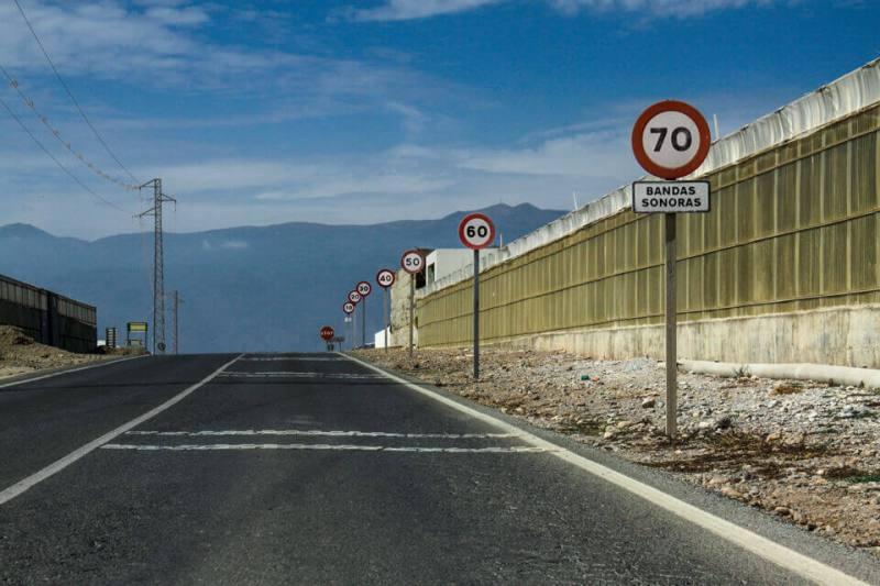 Autofahren in Andalusien Schilder