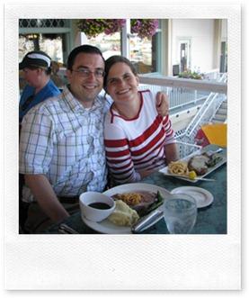 Brian and Joy on honeymoon
