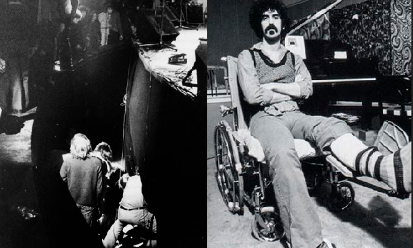 Incidente de Frank Zappa en el Rainbow/Frank Zappa lisiado por el accidente en el Rainbow