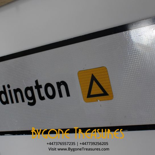 Paddington Reflective Road Sign