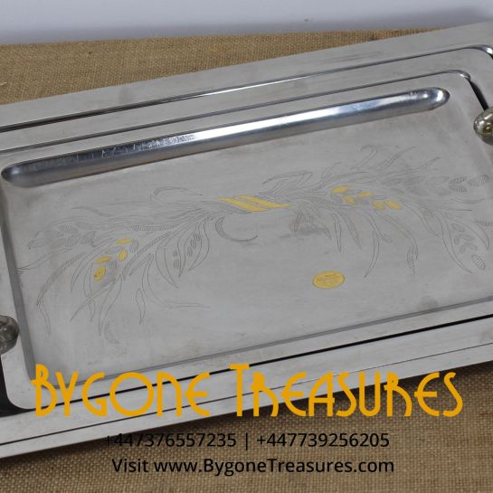 Vintage Stainless Steel Nest Of Tray's