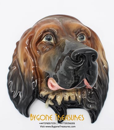 Rare Beswick Made In England Red Setter Dog Ceramic Wall Plaque #668