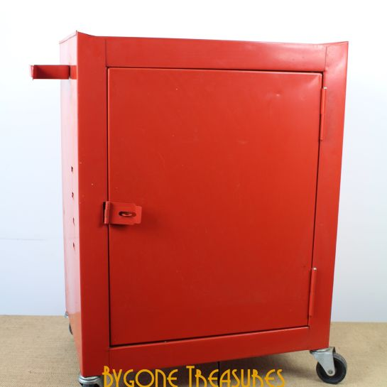 Small Red Metal Cabinet