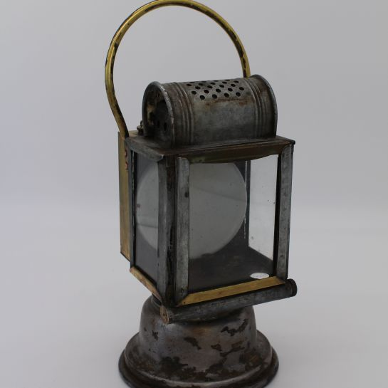 Antique SNCF Etablissement Albert Butin Paris France Railway Lantern