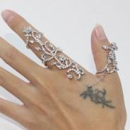 925 Sterling Silber Amor Pfeil Paar ffnungs Ring  Mode