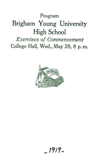 Brigham Young High School Graduation Program Collection