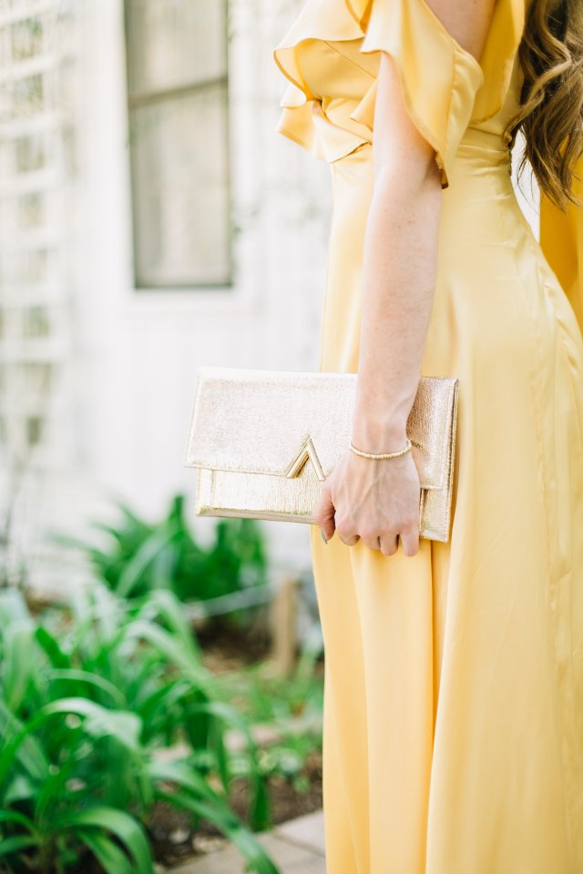 beauty and the beast inspiration - the yellow dress - golden yellow ball gown from asos | Austin Blogger By Hilary Rose