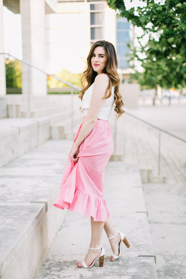 too-cha-cha-for-words-pink-midi-skirt-that-will-make-you-smile-by-hilary-rose