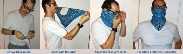 How to wear the Chrysalis Bandana Mask with Safety Silk Insert