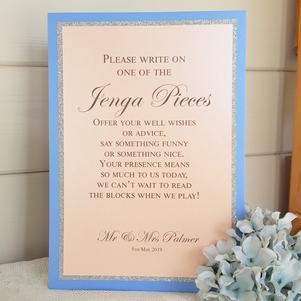 wedding jenga sign