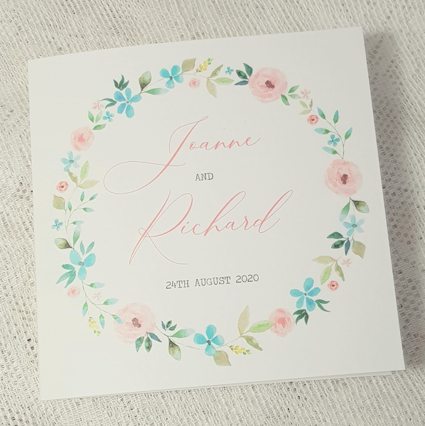 rustic floral simple folded card