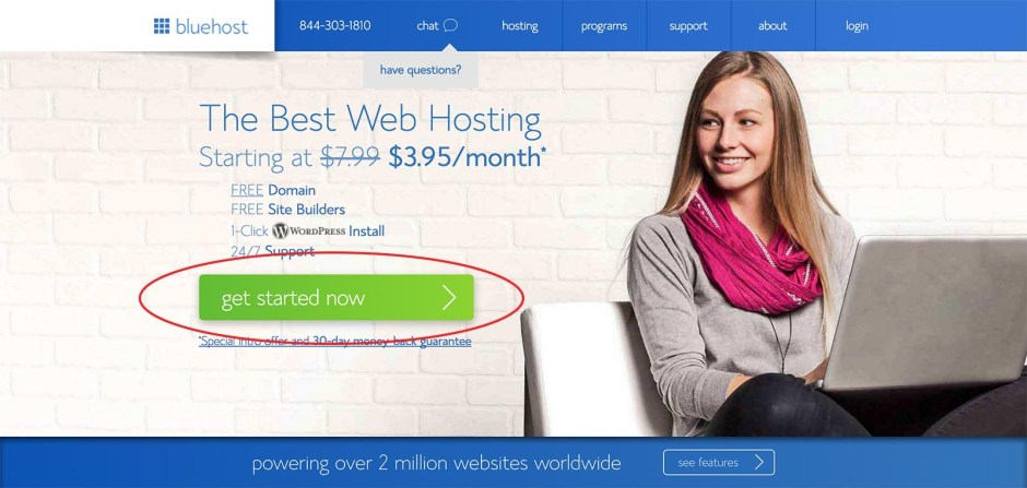 How to start a blog for only $3.95/month - Get started with Bluehost
