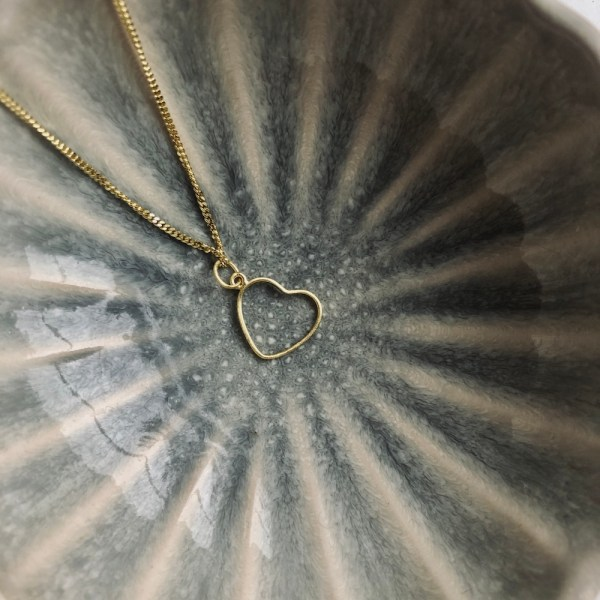 heart to get ketting goud hart