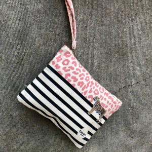 wild thing coral pink clutch small