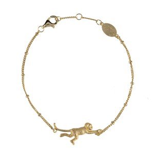 hanging around armband goud aapje