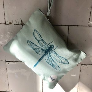 dragonfly minty green clutch small