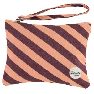 we are stripes rood roze clutch strepen
